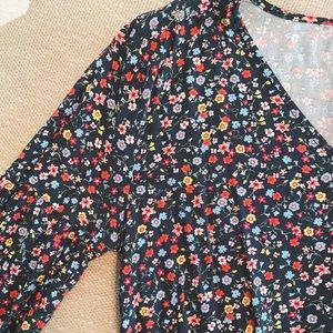 gap floral shift dress